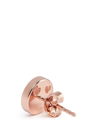 Detail View - Click To Enlarge - Ruifier - 'Smitten' 18k rose gold cord stud earrings