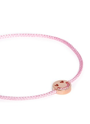 Detail View - Click To Enlarge - Ruifier - 'Smitten' 18k rose gold charm cord bracelet