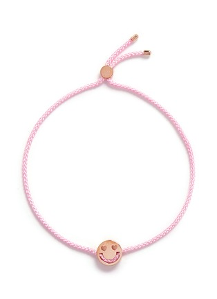 Main View - Click To Enlarge - Ruifier - 'Smitten' 18k rose gold charm cord bracelet