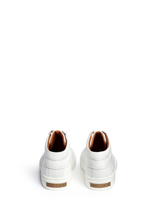 Back View - Click To Enlarge - Jimmy Choo - 'Bells' panelled leather mid top sneakers