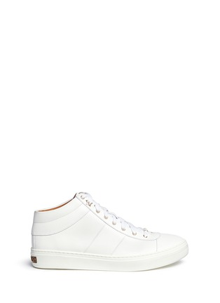 Main View - Click To Enlarge - Jimmy Choo - 'Bells' panelled leather mid top sneakers