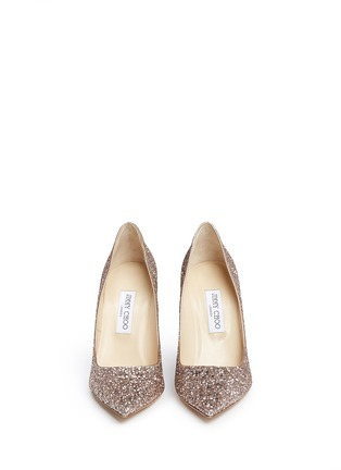 Front View - Click To Enlarge - Jimmy Choo - 'Abel' coarse glitter pumps