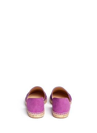 Back View - Click To Enlarge - Jimmy Choo - 'Dreya' suede embossed leather combo d'Orsay espadrilles