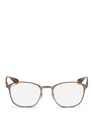 Main View - Click To Enlarge - Ray-Ban - Square metal frame optical glasses