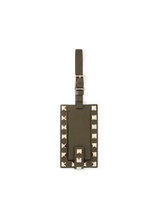 Main View - Click To Enlarge - VALENTINO - 'Rockstud' leather luggage tag
