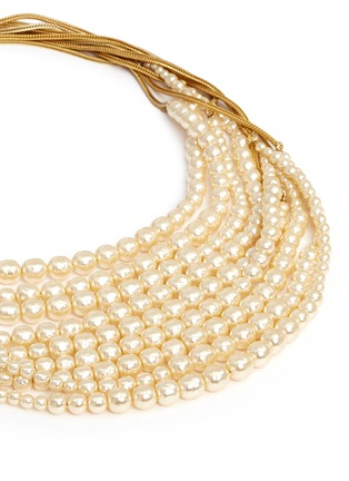 Detail View - Click To Enlarge - MIRIAM HASKELL - Multi strand glass pearl necklace
