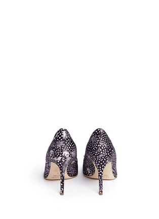 Back View - Click To Enlarge - J CREW SHOES - 'Elsie' jeweled feather-print pumps