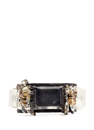 Main View - Click To Enlarge - J.CREW - Crystal and leather cuff bracelet