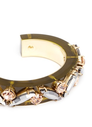 Detail View - Click To Enlarge - J.CREW - Lucite-and-crystal bracelet