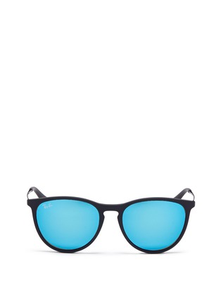 Main View - Click To Enlarge - Ray-Ban - Izzy' junior acetate frame wire temple mirror sunglasses