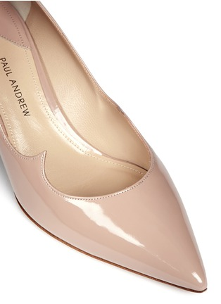 Detail View - Click To Enlarge - Paul Andrew - 'Helena' wavy patent leather pumps