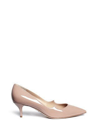 Main View - Click To Enlarge - Paul Andrew - 'Helena' wavy patent leather pumps