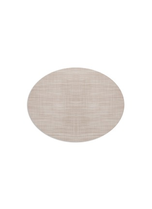Main View - Click To Enlarge - Chilewich - Mini Basketweave oval placemat