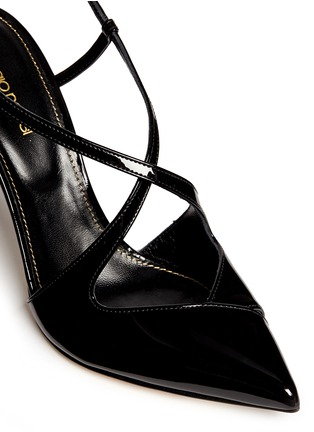 Detail View - Click To Enlarge - SERGIO ROSSI - 'Bon Ton' slingback patent leather pumps