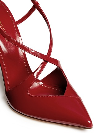 Detail View - Click To Enlarge - SERGIO ROSSI - 'Bon Ton' strappy patent leather pumps
