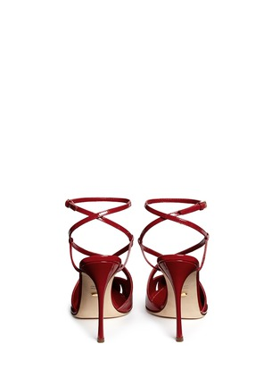 Back View - Click To Enlarge - SERGIO ROSSI - 'Bon Ton' strappy patent leather pumps