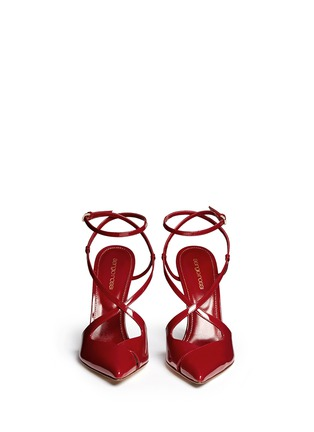Figure View - Click To Enlarge - SERGIO ROSSI - 'Bon Ton' strappy patent leather pumps