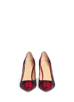 Figure View - Click To Enlarge - PEDDER RED - Tartan plaid pumps