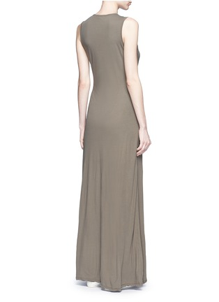 Back View - Click To Enlarge - James Perse - Layered cotton maxi dress