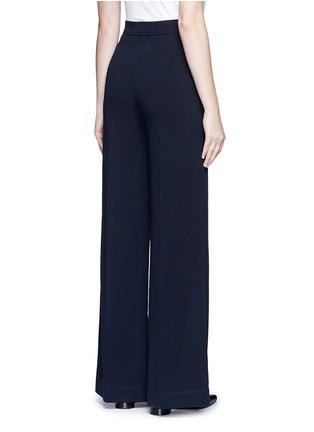Back View - Click To Enlarge - Helmut Lang - Cotton wide leg pants