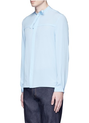 Front View - Click To Enlarge - Gucci - Neck sash silk crepe shirt