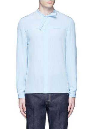 Main View - Click To Enlarge - Gucci - Neck sash silk crepe shirt