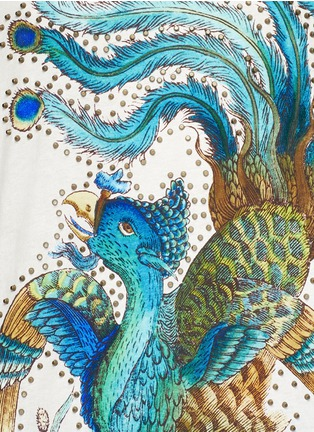 Detail View - Click To Enlarge - GUCCI - Paradise bird print cotton T-shirt