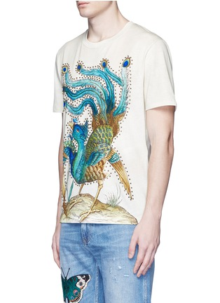 Front View - Click To Enlarge - Gucci - Paradise bird print cotton T-shirt