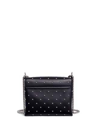 Back View - Click To Enlarge - ALEXANDER MCQUEEN - Twin skull stud leather chain satchel
