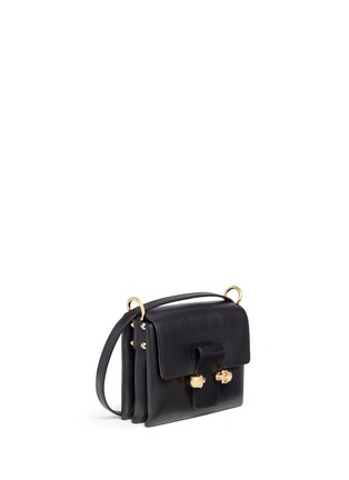 Front View - Click To Enlarge - Alexander McQueen - Twin skull leather satchel