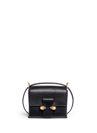 Main View - Click To Enlarge - Alexander McQueen - Twin skull leather satchel