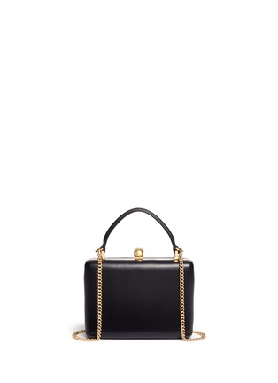 Back View - Click To Enlarge - ALEXANDER MCQUEEN - Skull leather handle box clutch