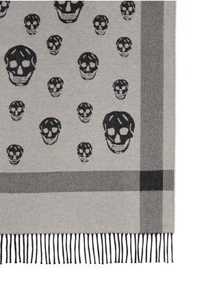 Detail View - Click To Enlarge - Alexander McQueen - Skull jacquard wool-cashmere blanket