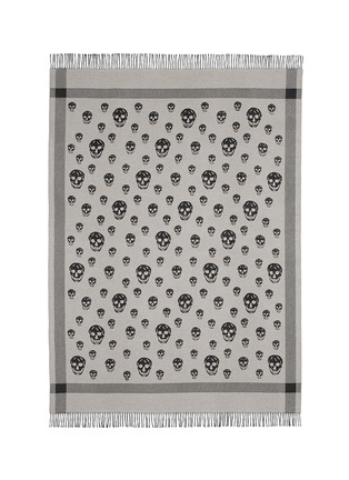 Main View - Click To Enlarge - Alexander McQueen - Skull jacquard wool-cashmere blanket