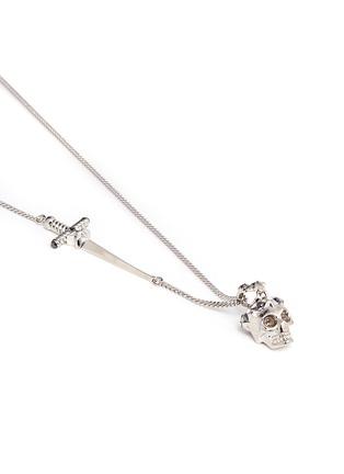 Detail View - Click To Enlarge - Alexander McQueen - Star dust Swarovski crystal skull pendant necklace