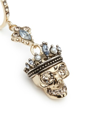 Detail View - Click To Enlarge - Alexander McQueen - 'Kings & Queens' Swarovski crystal skull earrings