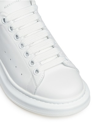 Detail View - Click To Enlarge - Alexander McQueen - Chunky outsole leather sneakers