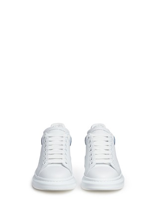 Front View - Click To Enlarge - ALEXANDER MCQUEEN - Chunky outsole leather sneakers
