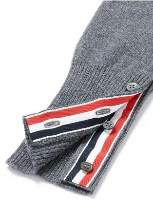 - Thom Browne - Stripe sleeve cashmere sweater