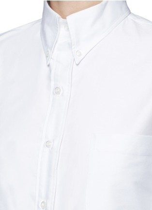 Detail View - Click To Enlarge - THOM BROWNE - Classic pleated bottom cotton Oxford shirt dress
