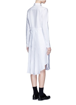 Back View - Click To Enlarge - THOM BROWNE - Classic pleated bottom cotton Oxford shirt dress