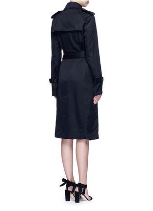 Back View - Click To Enlarge - Victoria Beckham - Gabardine drape fluid trench coat