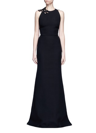 Main View - Click To Enlarge - Victoria Beckham - Guipure lace back double crepe gown