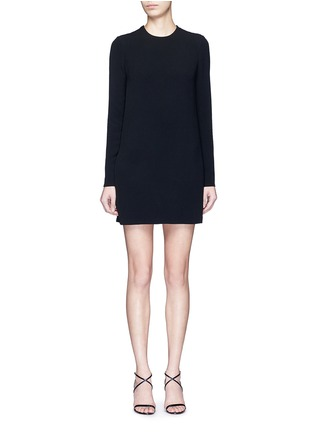 Main View - Click To Enlarge - Victoria Beckham - Geometric floral lace back long sleeve dress