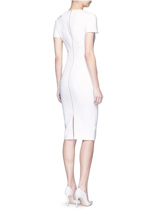 Figure View - Click To Enlarge - Victoria Beckham - Curve seam fitted cutout shoulder dress