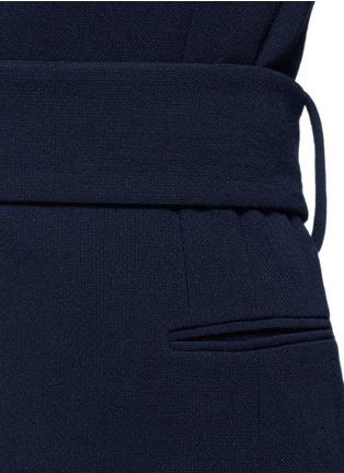 Detail View - Click To Enlarge - Victoria Beckham - Lace appliqué sleeve virgin wool blend coat