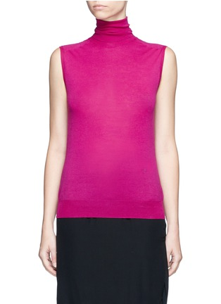 Main View - Click To Enlarge - Victoria Beckham - Turtleneck wool knit sleeveless top