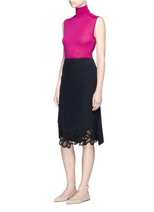Figure View - Click To Enlarge - Victoria Beckham - Turtleneck wool knit sleeveless top