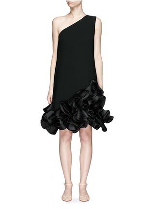 Main View - Click To Enlarge - VICTORIA, VICTORIA BECKHAM - Duchesse satin ruffle one-shoulder dress