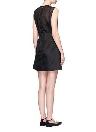 Back View - Click To Enlarge - VICTORIA, VICTORIA BECKHAM - Paperbag waist embroidered gauze dress